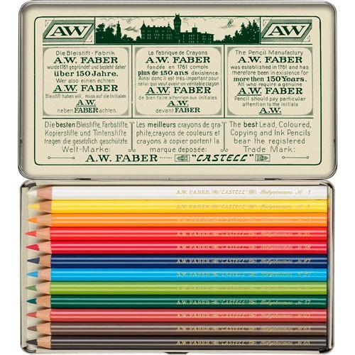 Lápices de colores polychromos 1908 retro con 12