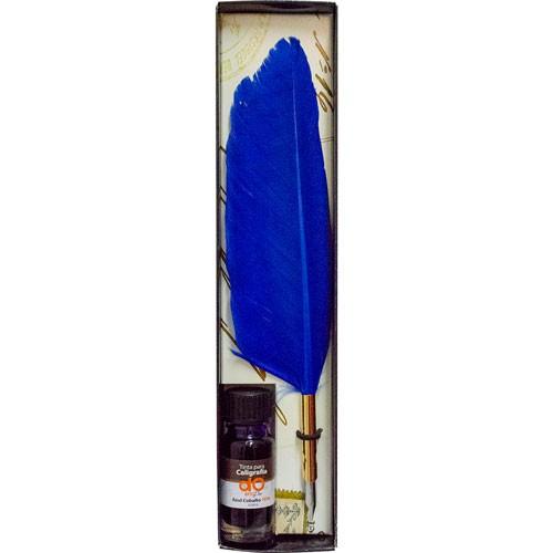 Set de caligrafía doarts pro pluma con tinta azul