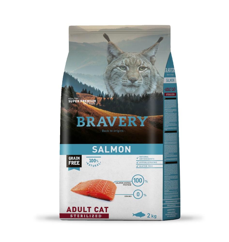 Salmon adult cat sterilized