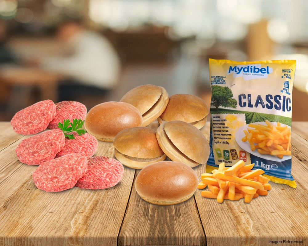 Pack 3 - fast food hamburguesas Pack de productos
