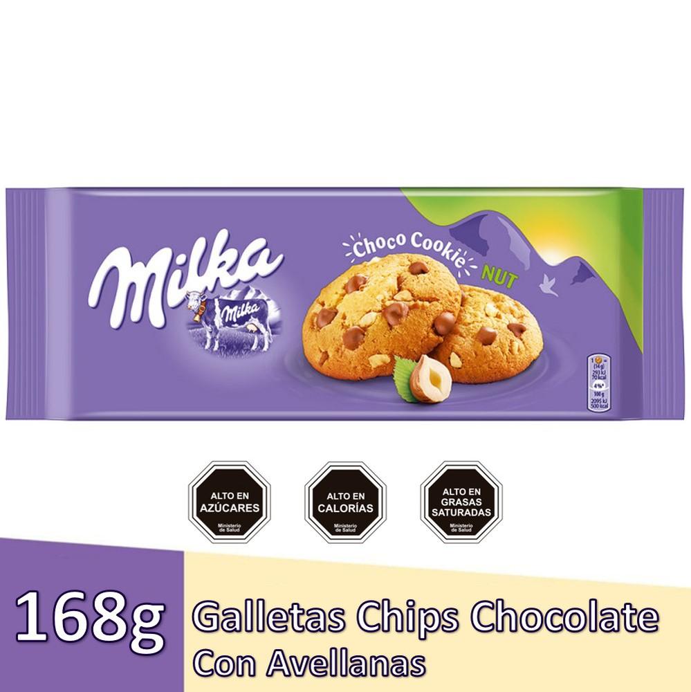 Galletas chips chocolates y avellanas