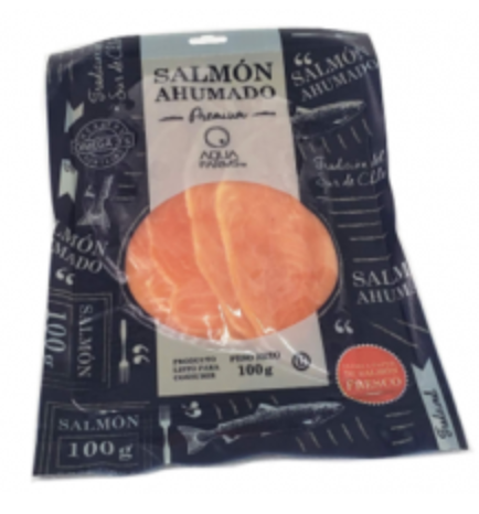 Salmon ahumado en láminas Empaque 100 g
