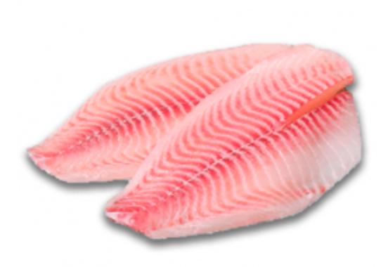 Tilapia congelada en filete Empacada al vacío por 200gr