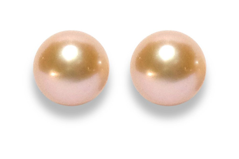 Aros Perla de Río Rosada 9mm Plata Fina 925 9mm perla