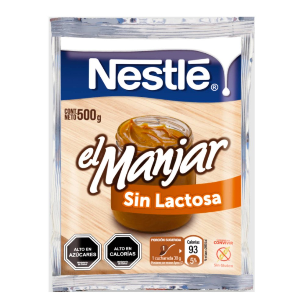 Manjar sin lactosa