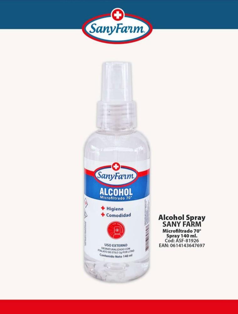 Alcohol Spray 70° 140 ml