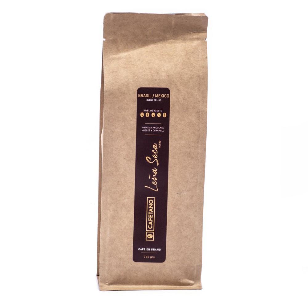 Café Leña Seca en Grano 250 Grs. Bolsa 250 gramos en grano