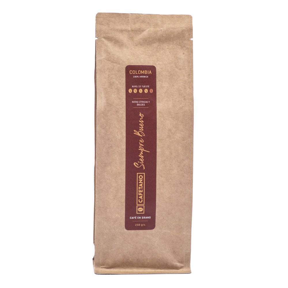 Café Colombia Siemprebueno en Grano 250 Grs. Bolsa de 250 gramos en grano