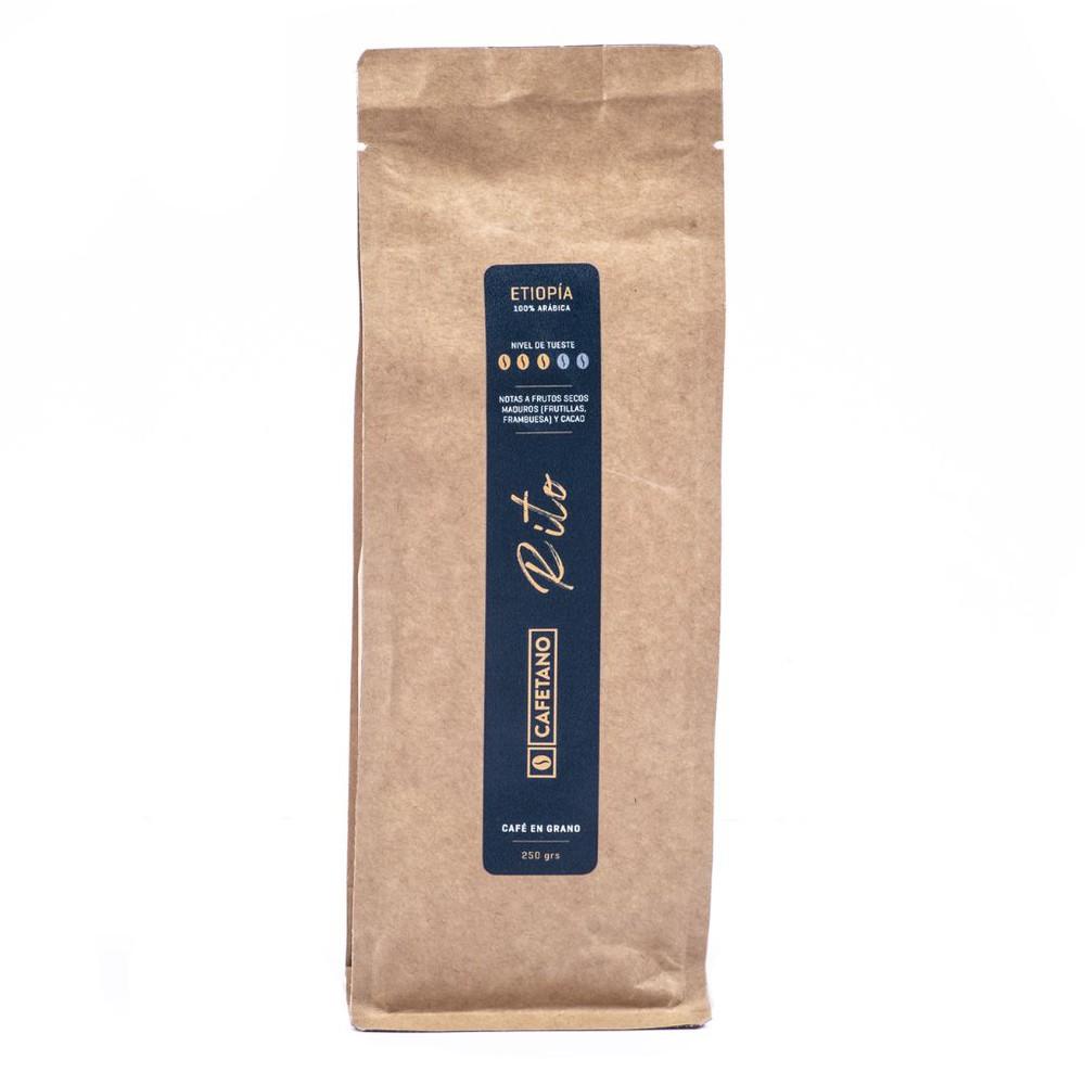 Café Etiopía Rito en Grano 250 Grs. Bolsa de 250 gramos en grano