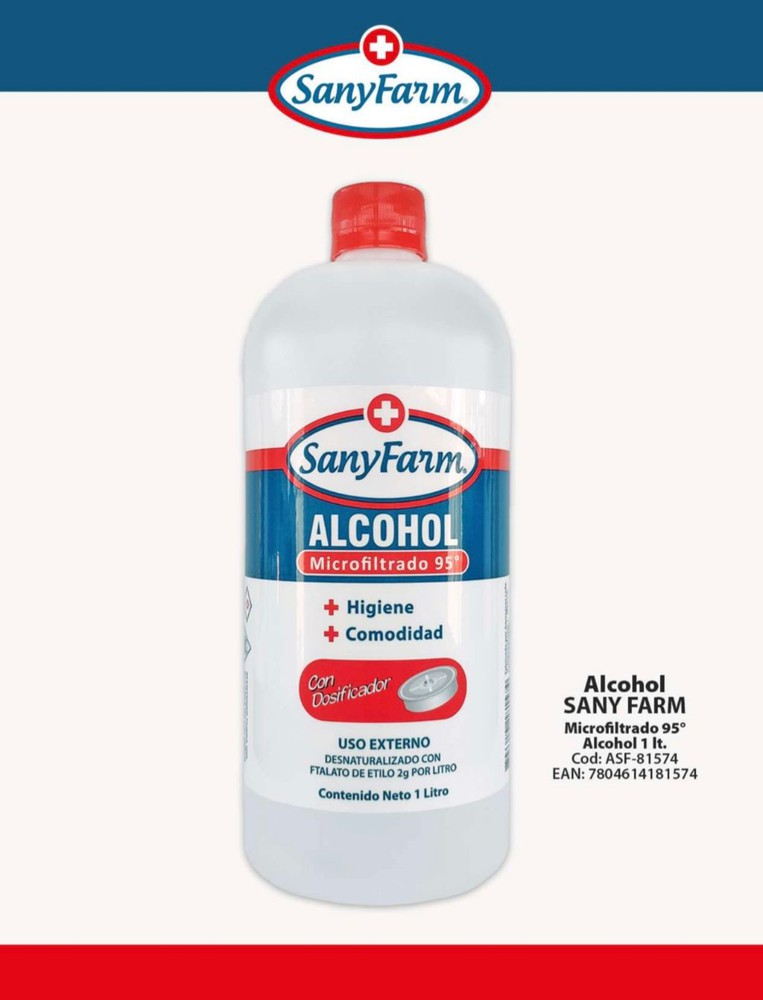 Alcohol Liquido 95° 1000 ml