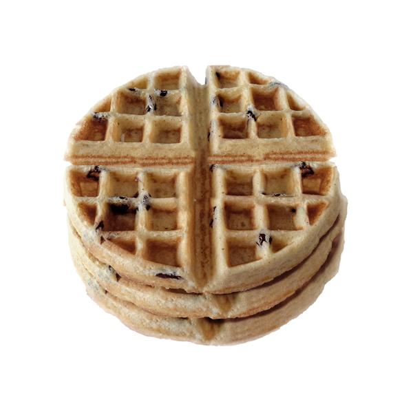 Waffles almendra arandan