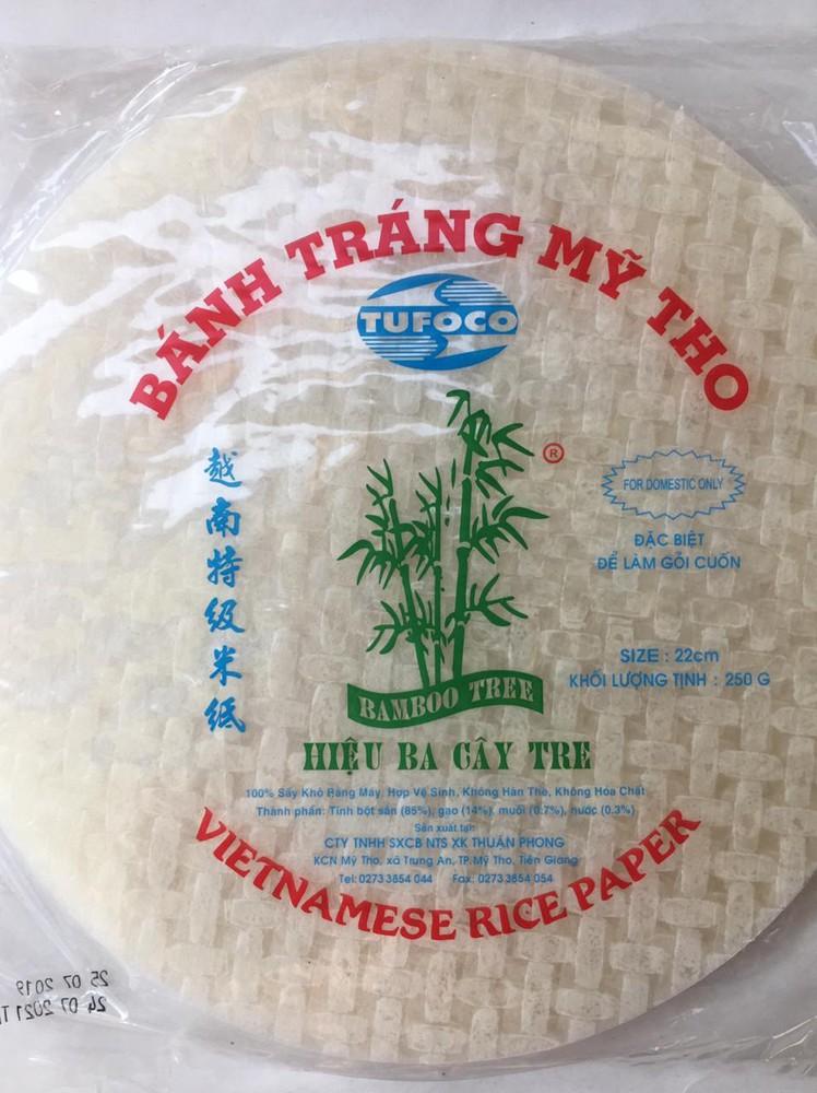 Hoja de arroz redonda