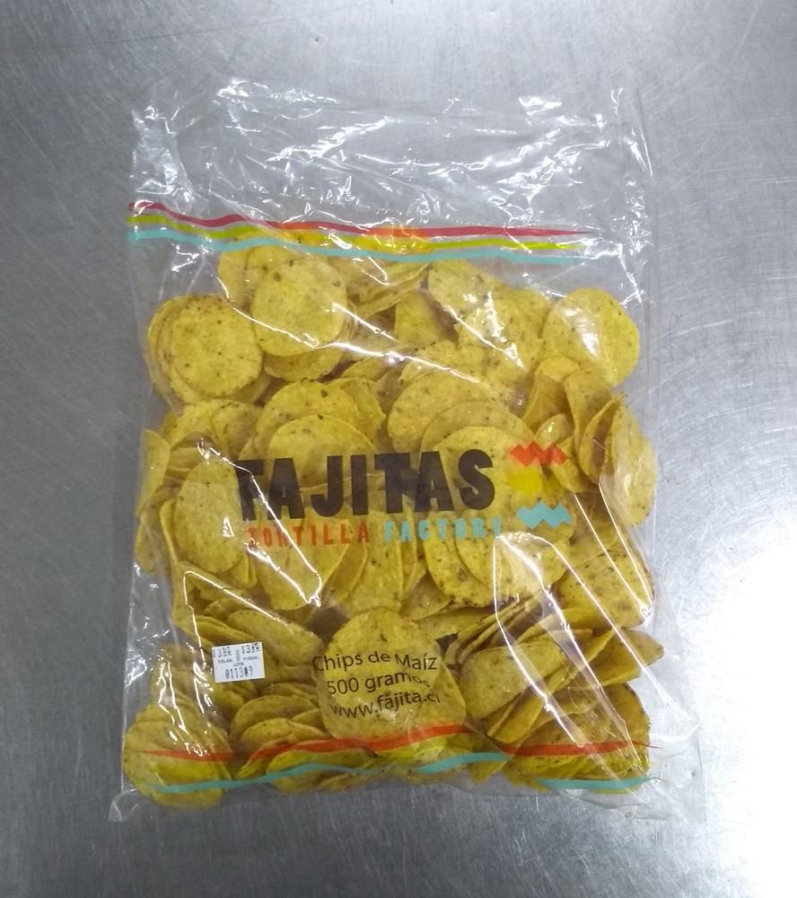 Chips de maíz - redondas Bolsa de 500g