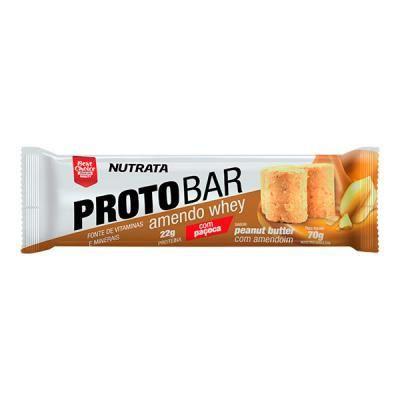 Barra de proteína Protobar amendo whey com paçoca