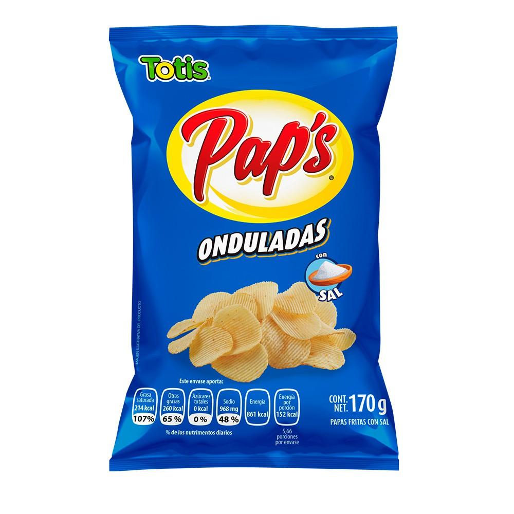 Papas Onduladas con sal