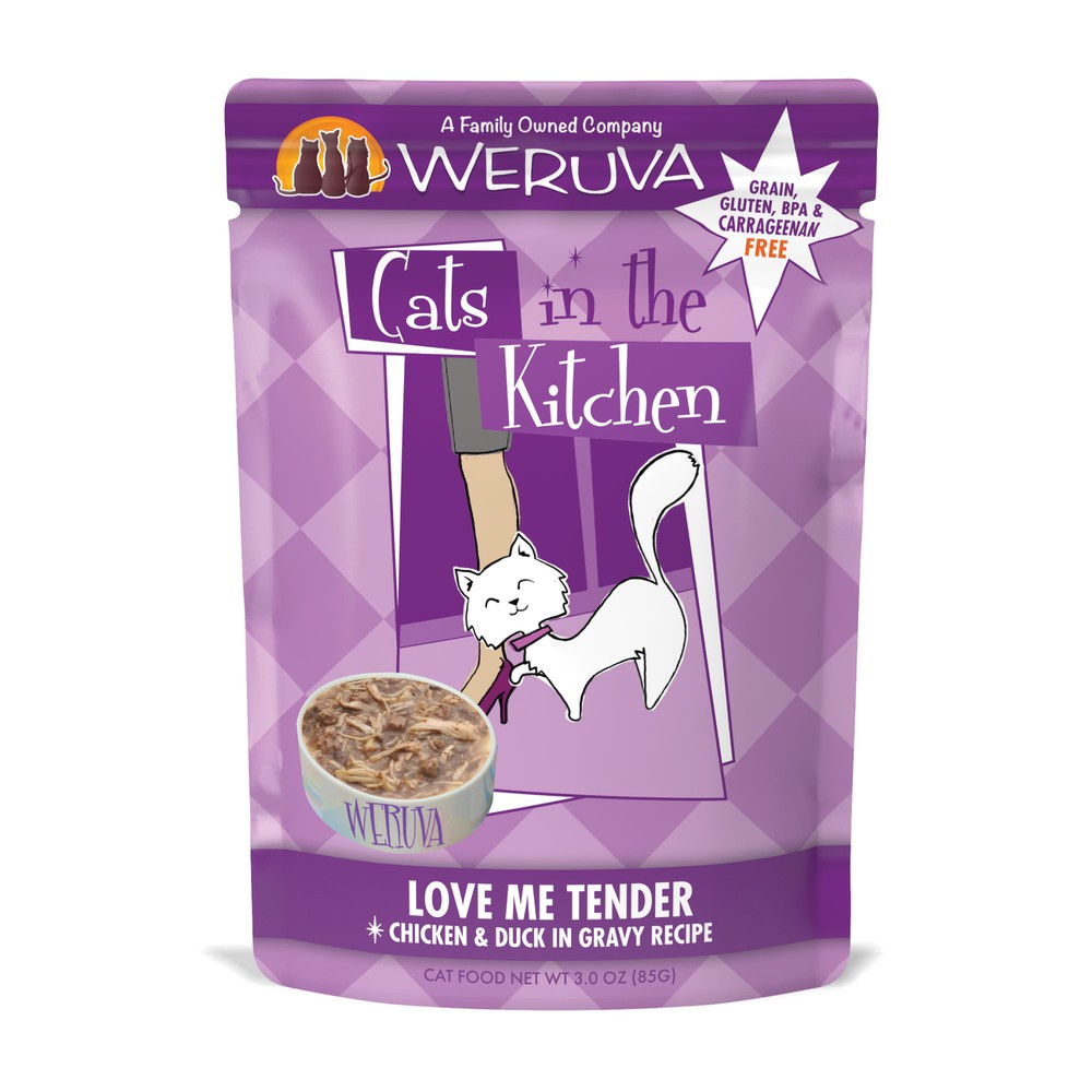 Cats In The Kitchen Love Me Tender Chicken Duck In Gravy Recipe Wet Cat Food 3 Oz Delivery Cornershop By Uber