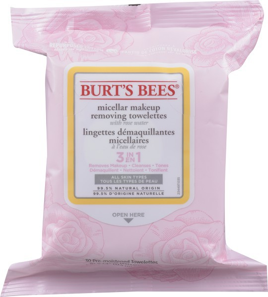 Burts Bees Micellar Towelettes Rose