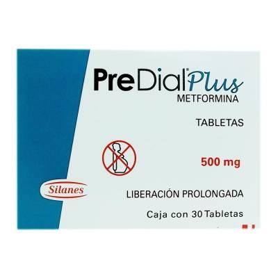 PreDial plus tabletas de 500 mg