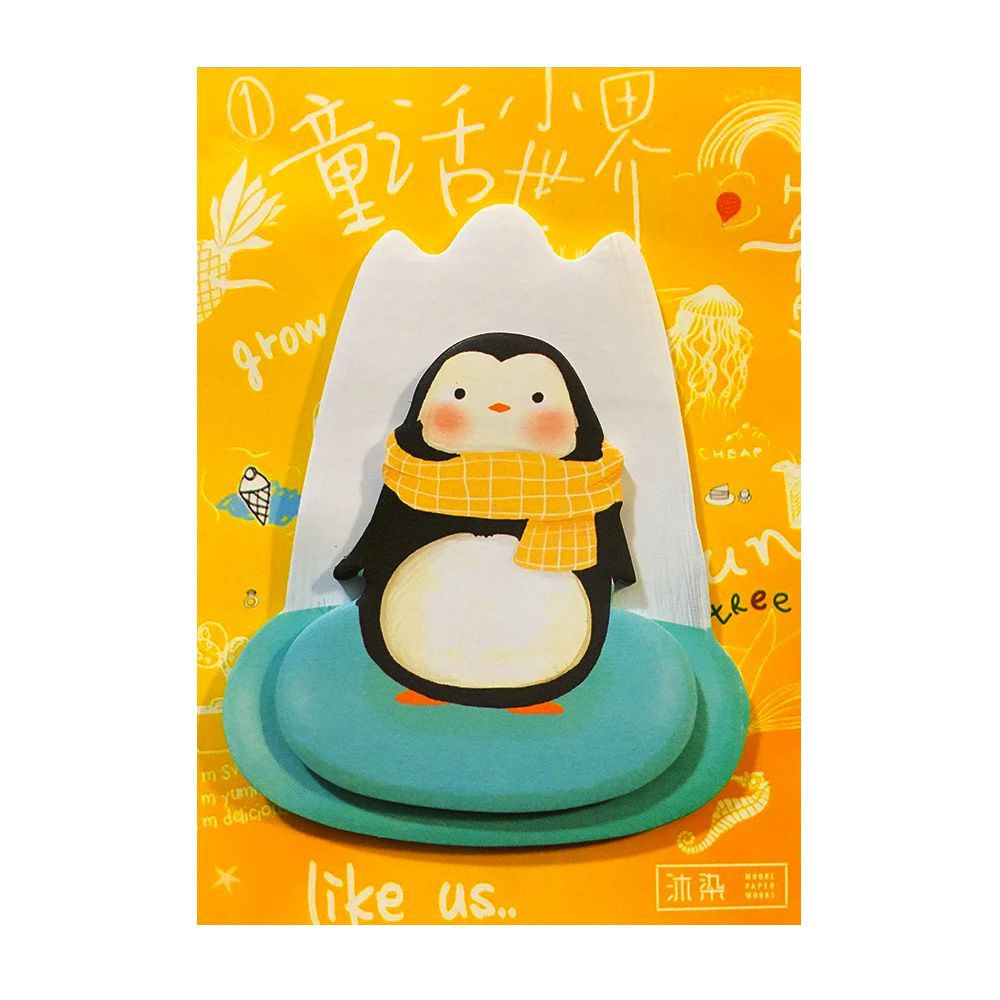 Post it Animales 3D Places (pinguino) 7 x 9 cms