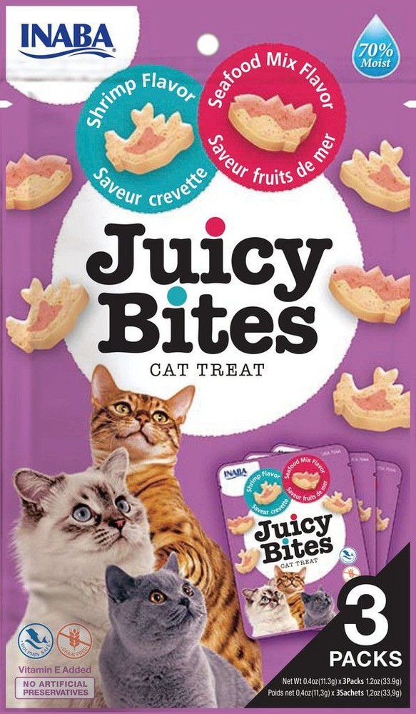 Juicy bites shrimp & seafood mix flavor, 34 gr