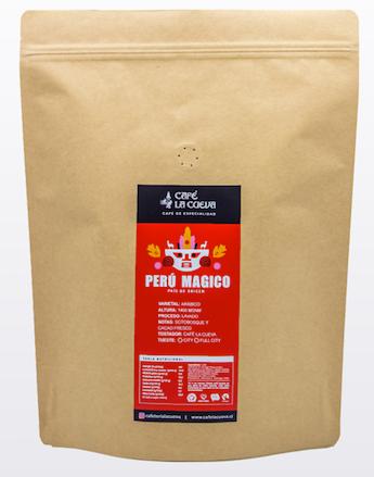 """Café en grano """"perú mágico"""" Bolsa de 1 kg"""