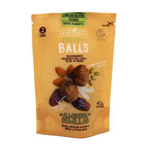 Energy balls almendra semillas