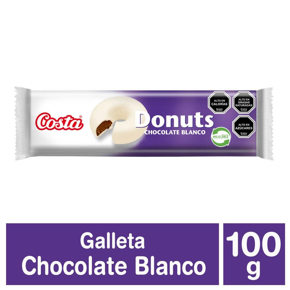 Galletas donuts sabor chocolate blanco