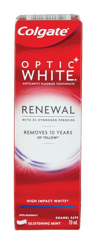 Optic white renewal high impact toothpaste