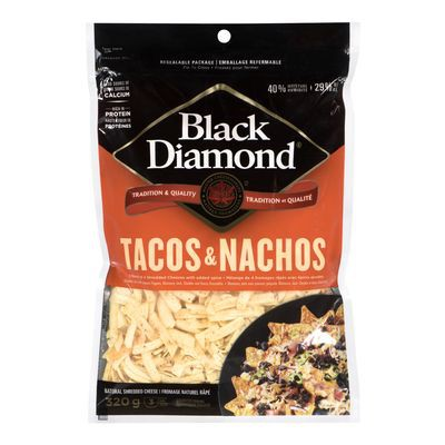 Tacos and nachos blend shredded cheese