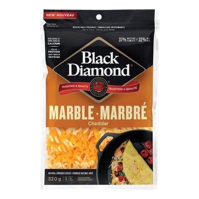Shredded marble cheddar cheese
