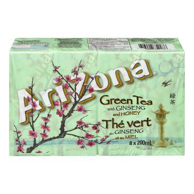 Green iced tea with ginseng and honey