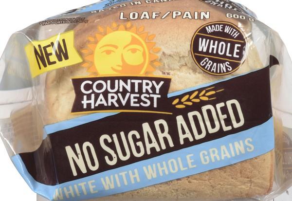 No sugar added whole grain white sliced bread