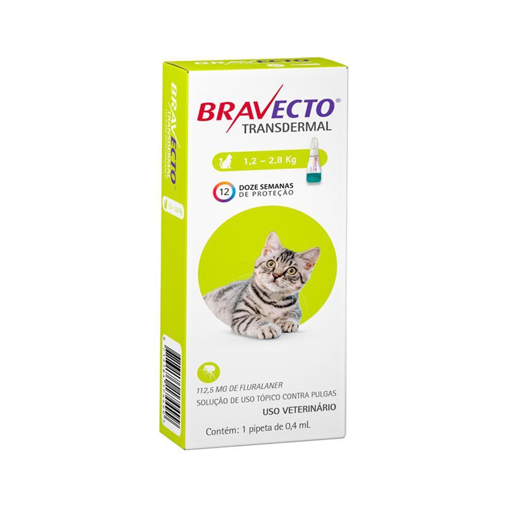 Antipulgas transdermal para gatos 1,2 a 2,8kg 0,4ml
