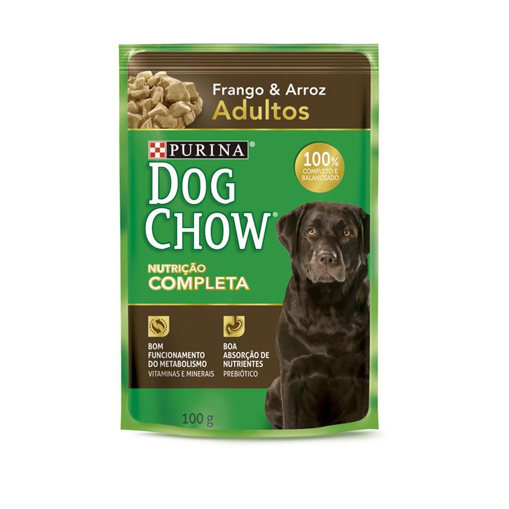 Ração úmida sachê para cães adultos sabor frango 100g