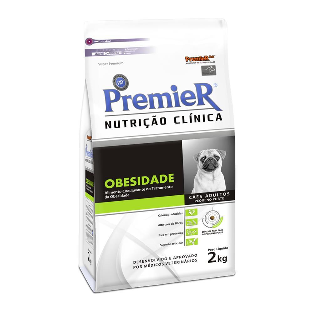 Ração nutrição clínica obesidade para cães adultos raças pequenas 2kg