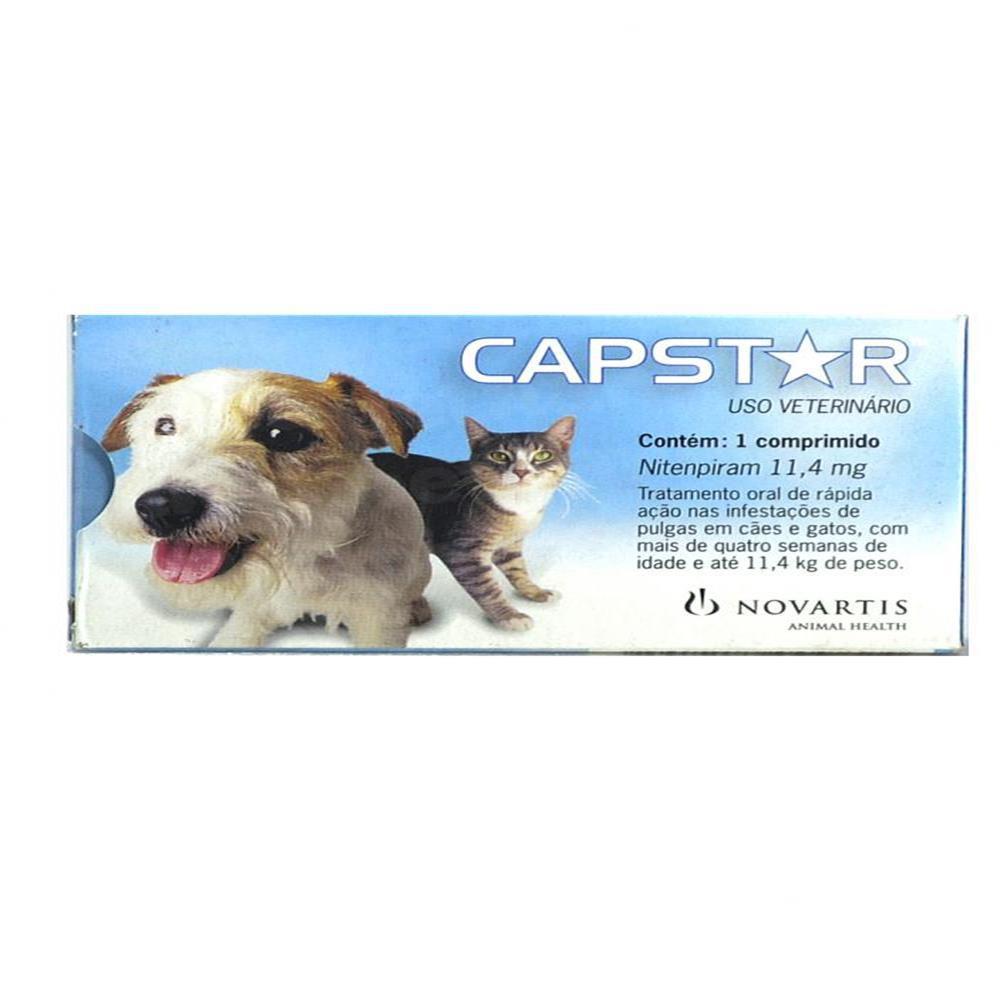 Antipulgas capstar para cães e gatos até 11kg 1 comprimido