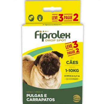 Antipulgas e carrapatos fiprolex drop spot para cães 0,67ml