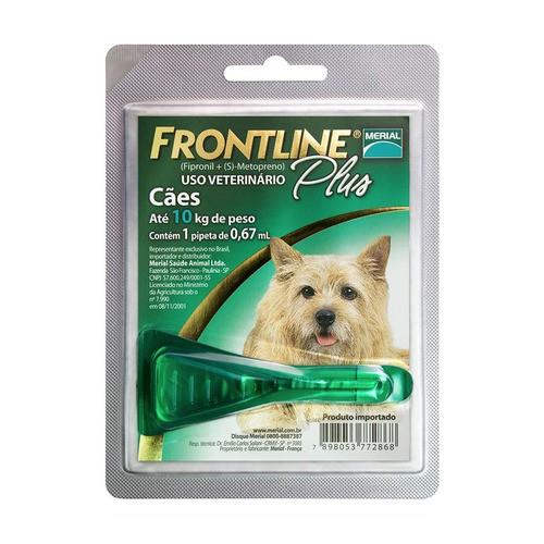 Antipulgas e carrapatos para cães até 10kg Frontline Plus 1 pipeta