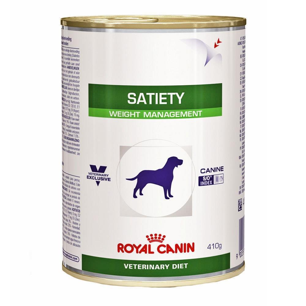 Ração úmida veterinary diet satiety support wet para cães adultos 410g