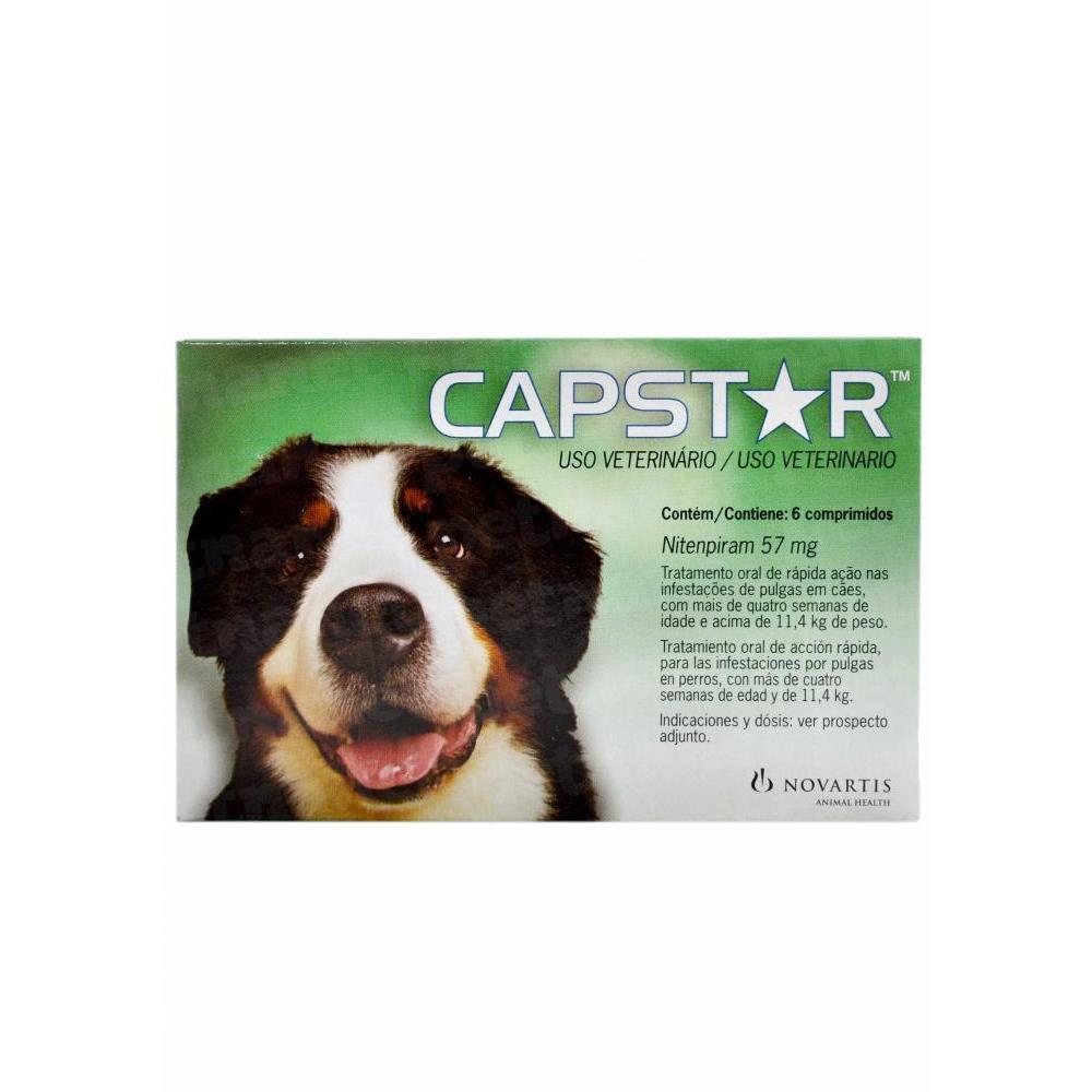 Antipulgas capstar para cães 6 comprimidos