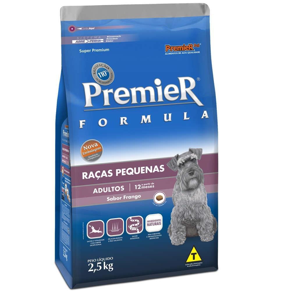 Ração fórmula para cães adultos de raças pequenas sabor frango 2,5kg