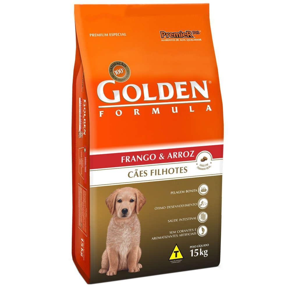 Ração para cães filhotes sabor frango GoldeN 15kg