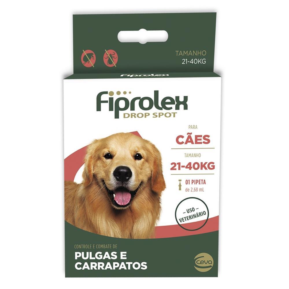 Fiprolex drop spot para cães 21 a 40kg 2,68ml