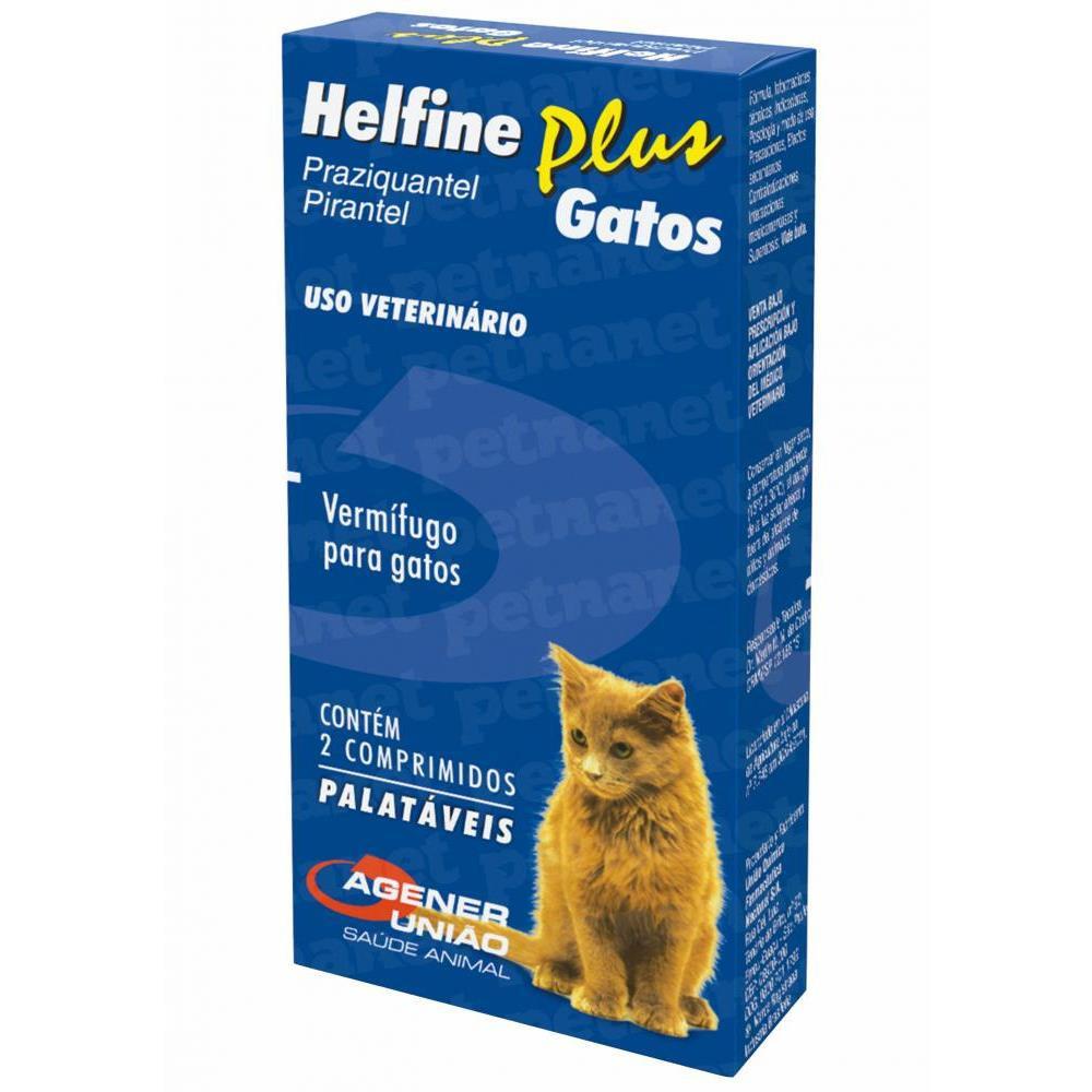 Vermífugo helfine plus para gatos 2 comprimidos