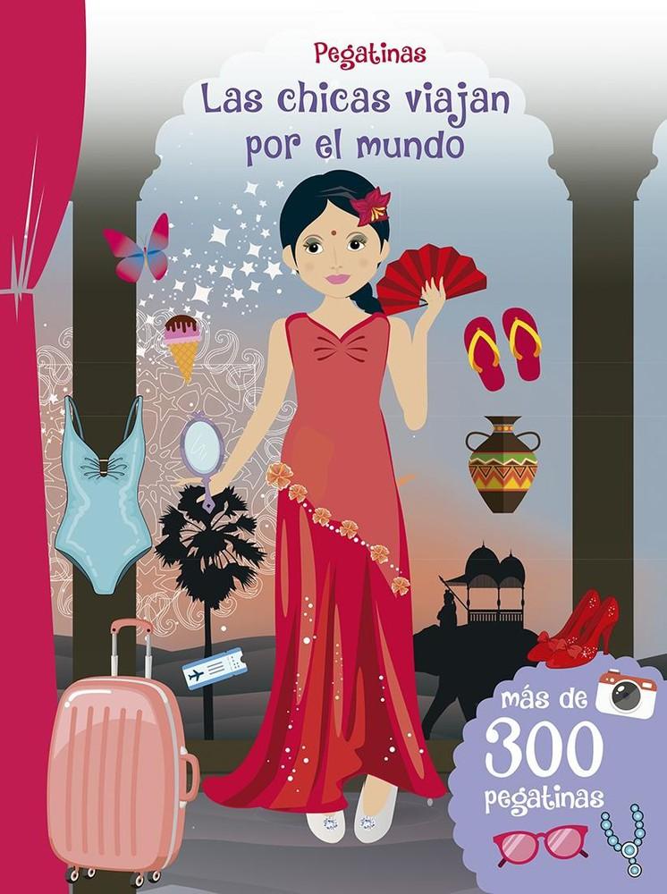 Las chicas viajan por el mundo stickers Tapa blanda. Stickers en el interior