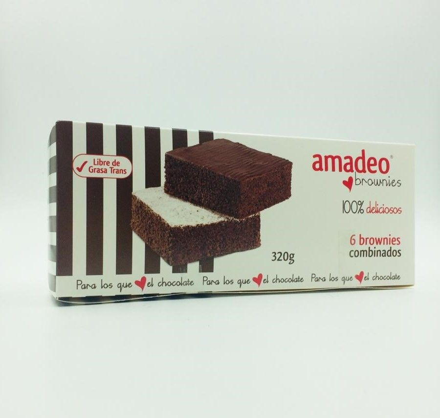 Caja de 6 brownies combinados Caja de 320 g