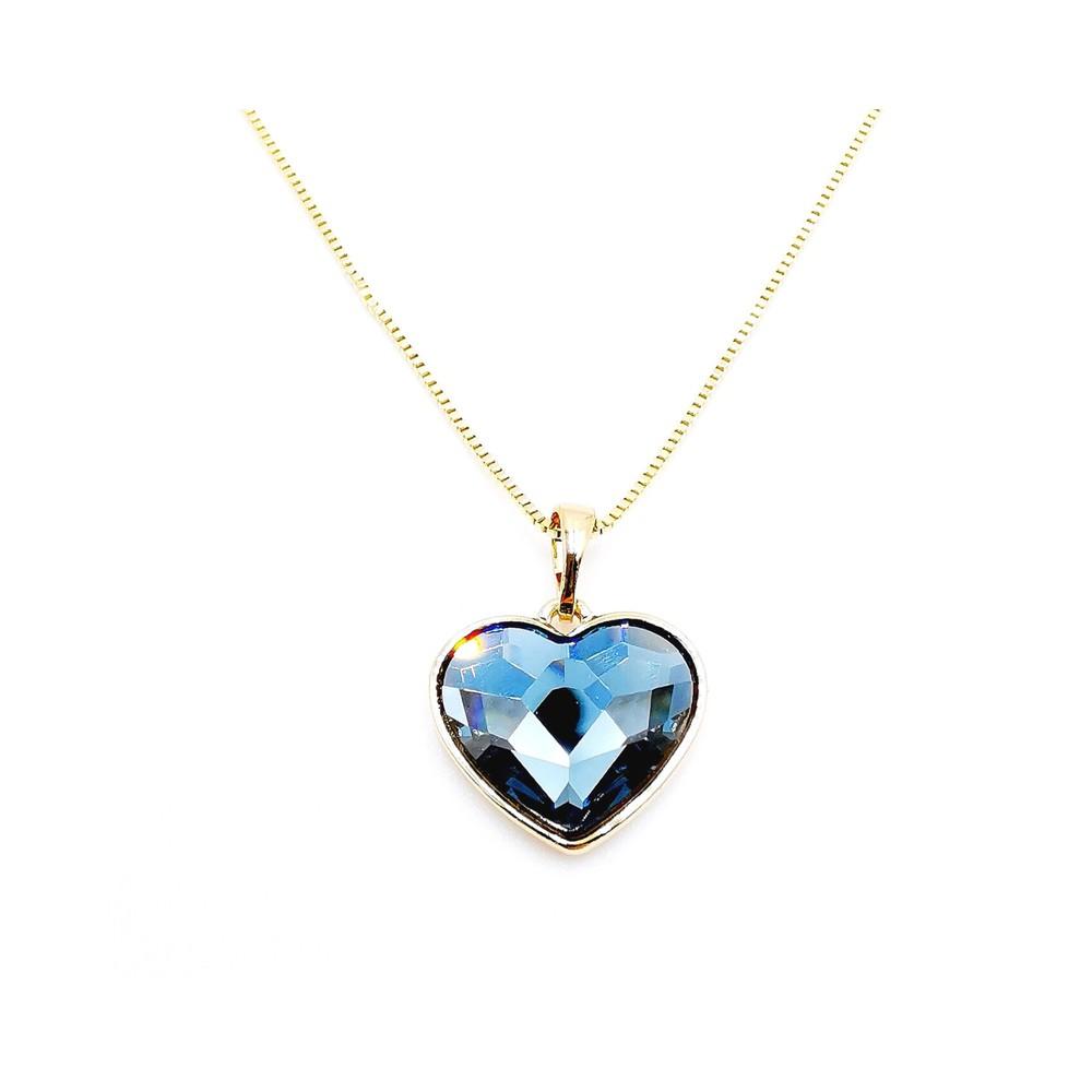 Colgante blue heart Colgante: 45 cm. Dije: 10 mm