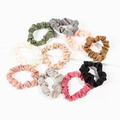 Set 10 scrunchies multicolor 12x10x1