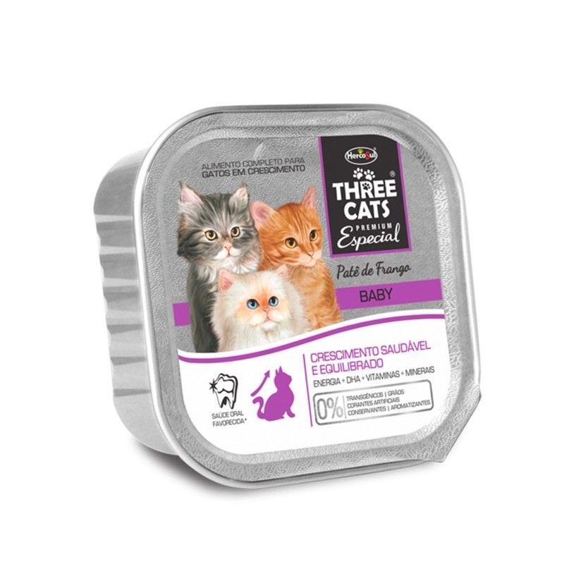 Three cats pate baby