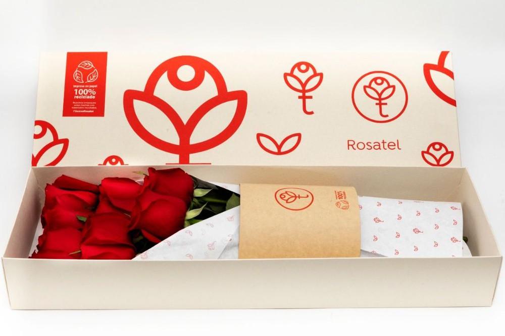 Caja 3r natural 6 rosas